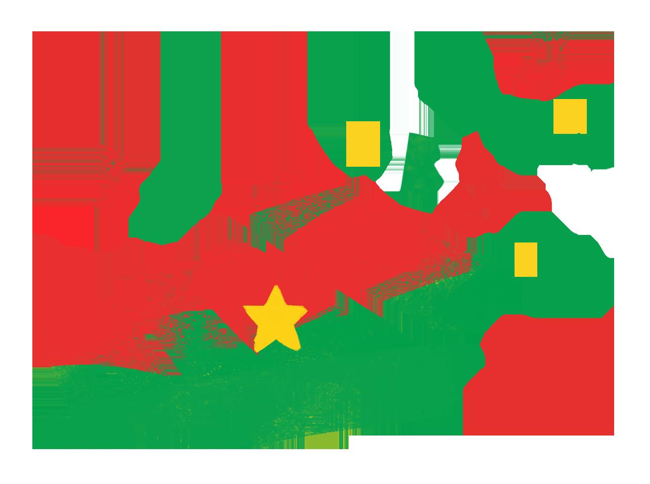 Logo Educafon (Balafon et lettres, drapeau du Burkina Faso)